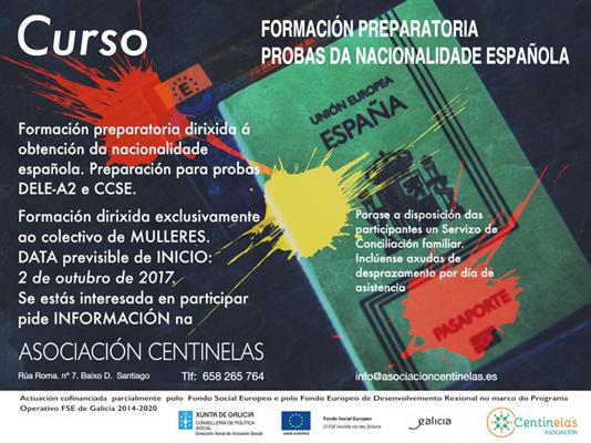 Curso de formación preparatoria para as probas da Nacionalidade española