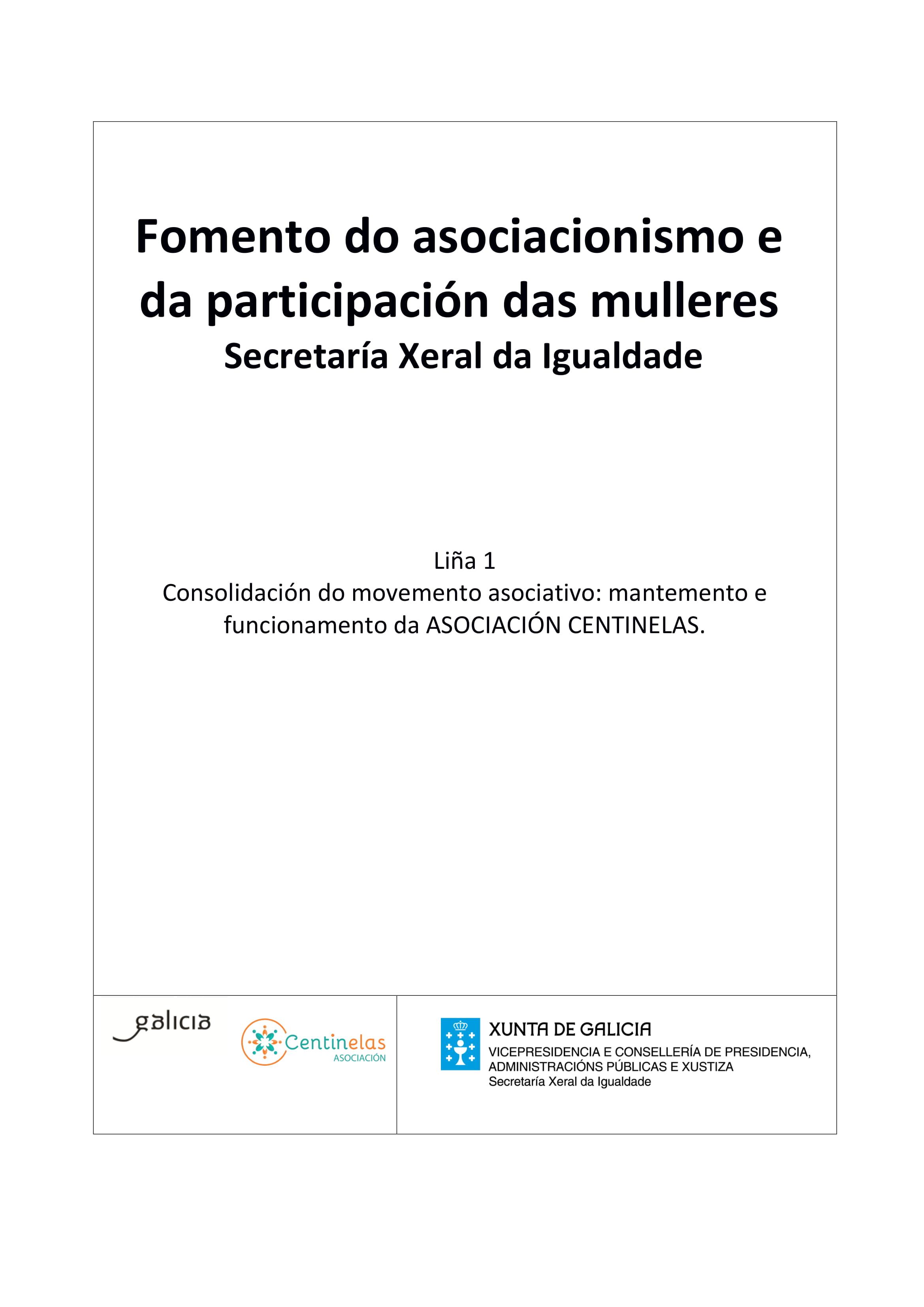 Participación no programa de axudas para fomentar o asociacionismo e a participación das mulleres