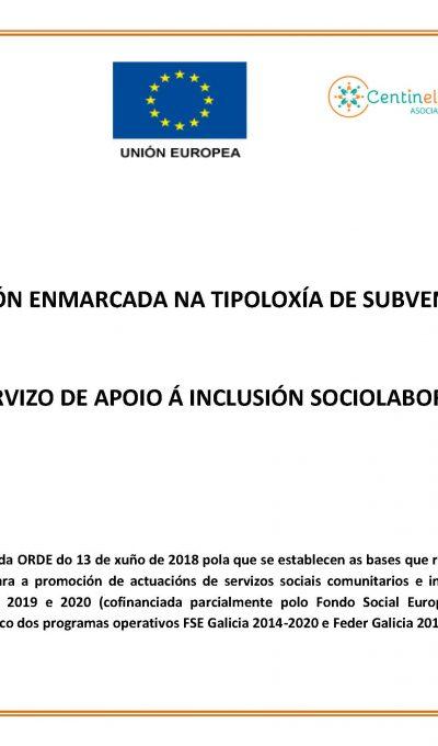 Inicio do Servizo de apoio á Inclusión Sociolaboral (Sección de inclusión e trancisión ao emprego)