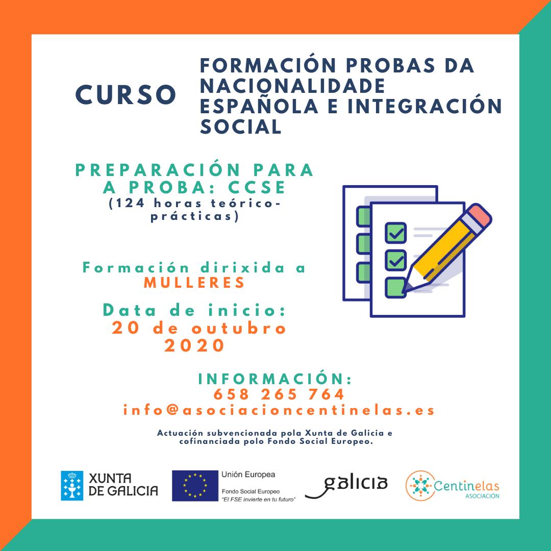 Curso de formación de preparación das probas da nacionalidade española e integración social 2020